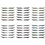 6PCS Waterproof & Reusable Eyeliner Stickers - Eyeliner Wasserfest, Eyeliner, Bunter flüssiger Eyeliner-Stift für Cosplay und ein anderes Aussehen, einfach zu färben, wasserdicht, w
