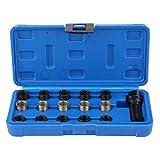 Zündkerzen-Reparatur-Set, 16 Stück, M14 x 1,25 mm, M16 Schraube, Wasserhahn und Schraube, Zündkerzen-Reparaturset, professionelle mechanische Werkzeuge mit Trag