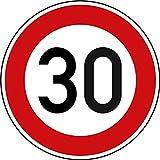 Verkehrszeichen Zulässige Höchstgeschwindigkeit 30 Nr. 274-30   Ø 420mm, Alu 2mm, RA1   Original Verkehrsschild nach StVO mit RAL Gütezeichen   Dreifke®