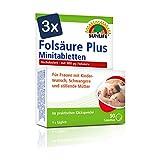 SUNLIFE Folsäure 800 Plus Minitabletten:BeiKinderwunsch, in der Schwangerschaft & Stillzeit, 90 Tabletten je 800µg Folsäure - 3er Pack