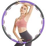 NOROTA Hula Hoop, Hula Hoop Reifen Erwachsene& Kinder mit 6-8 Abnehmbare Segmente, für Gewichtsverlust und Massage, Hula-Hoop-Reifen Für Fitness/Bauchformung/Sport/Zuhause/Bü