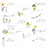 Postkarten-Set 20 verschiedene Postkarten mit Sprüchen & Zitaten – Geschenkidee Freundschaft, Freundin - Liebe Grüße, Glückwunsch, Geburtstag, Mut, Motivation, Gute Besserung – DIN A6
