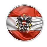 Gifts & Gadgets Co. Österreich Flagge Button Anstecker 38 mm Anstecknadel k