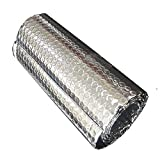 Aluminiumfolien Membran Selbstklebend Isolierfolie Thermisch Dämmung Isolierung Dachisolierung Isolierung Folie Wärmehaltung Dämmfolie Doppelte Aluminium Folien-Blase(Size:1x30m/3.2x98.4ft)