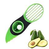 THETAG Avocadoschneider,Avocado Schneider 3 in 1 Grün Obst Schneider Küchenschneider Obstschäler für Fresh Avocado Saver in Haushalt Kü