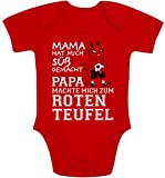 Shirtgeil Kaiserslautern - Papa machte Mich zum Roten Teufel Baby Body Kurzarm-Body 6-12 Monate R