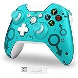 Wireless Controller für Xbox One, Lampelc Xbox One Controller Gamepad Joystick Dual Vibration, Xbox Controller One für Xbox One/One S/One X/PS3/One Elite/Windows 10 (Blau)