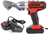 Professionelle Elektrische Gartenschere Cordless 21V Hand Lithium Power-Schere, Spanabhebegerät Kit mit 2 Lithium abnehmbare Batterie, Schneidewerkzeug for Metall, Eisen-Blatt, Tepp