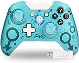 TechKen Kabelloser Controller für Xbox One, 2,4 GHz, Gamepad, kompatibel mit Xbox One S/X PC und PS3 (grün)