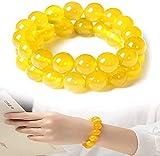 KGDC Gelber Jasper-Körper-Reinigungs-Armband, Anti-Fatigue-Perlen für Reiki-Heilungs-Kristallheilungsstein, natürliches Edelstein-Armband (2 * 10 cm)