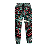 Herren Sweatpants Basic Sweat Pants Athletic Jogger für Workout Trainingshose Gr. 41-44.5, Chinesischer Drache, Vintage-Stil, Weiß