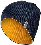 Uvex K26 7308 - Wintermütze für Damen & Herren - Beanie-Strickmütze in Blau-Gelb