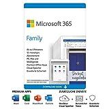 Microsoft 365 Family | 6 Nutzer | Mehrere PCs/Macs, Tablets und mobile Geräte | 1 Jahresabonnement | Download C