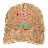 Jopath Teachers Can Do Virually Anything-2 Unisex Baseballkappe verstellbar Outdoor Mesh Cap Trucker Hüte Gr. One size,