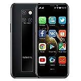 Mini-Smartphone 3,5-Zoll-HD-Bildschirm 4G Dual-SIM-Handy Android OS 9.0 Quad-Core-GPS entsperrtes Handy 3GB+64GB(schw