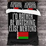 shenguang I'd Rather Be Watching Elise Mertens Bettwäsche-Set, dekorativ, weich, 3-teilig, Kissenbezug Einheitsgröß