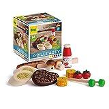 Erzi 28199 Sortierung Grillparty aus Holz, Kaufladenartikel für Kinder, Rollensp
