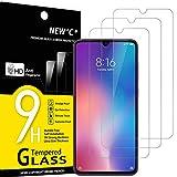 NEW'C 3 Stück, Schutzfolie Panzerglas für Xiaomi Mi 9, Frei von Kratzern, 9H Härte, HD Displayschutzfolie, 0.33mm Ultra-klar, Ultrabeständig