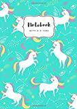 Notebook with A-Z Tabs: A5 Medium Lined Journal | Alphabetical Indexes | Star Zodiac Unicorn Design T