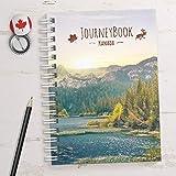 Reisetagebuch Kanada zum selberschreiben/als Abschiedsgeschenk - DIN A5 mit animierenden Aufgaben und Challenges und Reise-Z