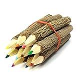 NUOLUX 12 Stück Zweig Bleistifte Buntstift für Künstler Sk