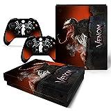 46 North Design Xbox One X Folie Skin Sticker Konsole Venom aus Vinyl-Folie Aufkleber Und 2 x C