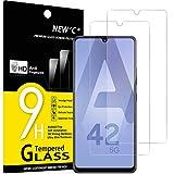 NEW'C 3 Stück, Schutzfolie Panzerglas für Samsung Galaxy A42 5G, Frei von Kratzern, 9H Härte, HD Displayschutzfolie, 0.33mm Ultra-klar, Ultrabeständig