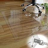Hartboden Stuhlmatte 2MM Bodenschutzmatte transparent,Teppichschutz unterlage Bürostuhlrollen Schützen,kleine Größe (Size : 36'x65'/92x165cm)