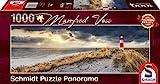 Schmidt Spiele Puzzle 59622 Manfred Voss, Leuchtturm, Sylt, 1000 Teile Panorama-Puzzle, b