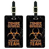 Graphics & More Gepäckanhänger Zombie Outbreak Response Team Orange Distressed W
