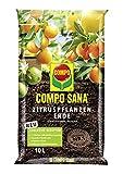 Compo SANA Zitruspflanzenerde mit 12 Wochen Dünger für alle Zitruspflanzen und mediterranen Pflanzen, Kultursubstrat, 10 L