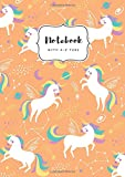 Notebook with A-Z Tabs: A5 Medium Lined Journal | Alphabetical Indexes | Star Zodiac Unicorn Design Orang
