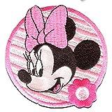 Disney © Minnie Mouse BLUME 2 - Aufnäher, Bügelbild, Aufbügler, Applikationen, Patches, Flicken, zum aufbügeln, Größe: 7 x 7