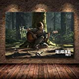 Mode Leinwand Malerei The Last of Us Spiel Plakat-Druck Zombie Survival Horror Action-HD Poster Malerei Home Decor for Wand-Kunst (Color : 43, Size (Inch) : 50cmX75cm(No Frame))