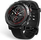 Amazfit Stratos 3 Smartwatch mit GPS und Musikspeicher, Sportuhr mit 19 Sportmodi, 1,34 Zoll MIP-Display, 5 ATM Wasserdicht, Fitness Tracker für Herren, O