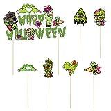 ABOOFAN Halloween-Dekoration für Kuchen, Cupcakes, Spukhaus, Halloween-Zombie-Party, 13 Stück
