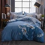 Bettbezug 180 X 200,NatüRlicher Doppelseitiger Soft-Down-Quilt-Set Wird FüR BettwäSche Mit Kissenbezug Verwendet-L_200 × 230 cm (79 × 91 cm) 4 StüCk