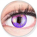 Funnylens Farbige Kontaktlinsen Lila Anime Violet Circle Lenses Heroes Of Cosplay Stark Deckend Ohne Stärke mit gratis Linsenb