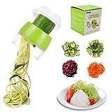 TOCYORIC Spiralschneider Gemüse, 4 in1 Spiralschneider Hand für Gemüsespaghetti, Zucchini Spaghetti Schneider für Zwiebeln Karotten Gurke Gemüsehobel Sp