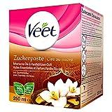 Veet Sugaring Zuckerpaste Vanilleblüte zur Haarentfernung für spürbar glatte Haut für bis zu 4 Wochen 1 x 250 ml, 73 g