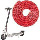 Linghuang Scooter Spiral Draht Bremse Abdeckungs Schutz für Xiaomi M365 / 1S / Pro / Pro 2 / MAX G30 Elektroroller Ungiftiges Kabel Bremsleitungs Zubehör Verschleißfest (Rot)
