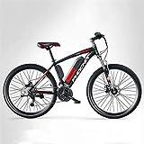 Elektrofahrrad, Erwachsene Herren Mountain Electric Bike, 250 Watt Elektrofahrräder, 27 Geschwindigkeits-Off-Road-elektrisches Fahrrad, 36V-Lithiumbatterie, 26-Zoll-Räder,F