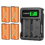 JYJZPB Akku für Xbox One Controller 4 Stück 2800mAh Wiederaufladbarer Akkus und Ladegerät mit USB-Kabel und Type C Schnell Laden, Kompatibel mit Xbox Series X S One E