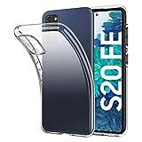 Eiselen Crystal Clear Kompatibel mit Samsung Galaxy S20 FE Hülle, Transparent Stoßfest Anti-Gelb Anti-Kratzer Dünn Handyhülle Slim PC mit TPU Silikon Durchsichtige Schutzhülle Case für Samsung S20 FE