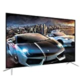 SHENXINCI Smart LED-Fernseher 4K HDR UHD (Full HD, Dolby Audio, HDR10, Sprachassistent, Triple Tuner – DVB-C/S2/T2), Android TV,mit Dolby-Decodierung Und Interaktivem Multi-Monitor,50 ''