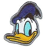 Disney © Mickey Mouse DONALD DUCK - Aufnäher, Bügelbild, Aufbügler, Applikationen, Patches, Flicken, zum aufbügeln, Größe: 6,5 x 5,8