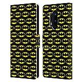 Head Case Designs Offizielle Batman DC Comics Muster Logos Leder Brieftaschen Handyhülle Hülle Huelle kompatibel mit OnePlus 8