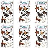 Neu: 6-teiliges Tattoo-Set * TAPIRELLA Pferde * vom Mauder-Verlag | Kinder Kindertattoo Kindergeburtstag Geburtstag Mitgebsel Geschenk Tiere Pony