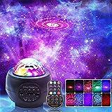 LED Nachtlicht Projektor, 3 in 1 LED Galaxy Sternenlicht Projektor für Schlafzimmer, Ocean Wave Projektor Licht Dekorative Galaxy Licht Sky Star Lite mit Sound aktiviert für Kinder, Erwachsene, Urlaub