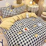 Bedding-LZ Weihnachts bettwäsche 200x200,Set von EIS Seide Wasser Waschen Seide Vierstufige Bettwäsche Sommer-Qi_1,8m Bett (4 Stück)
